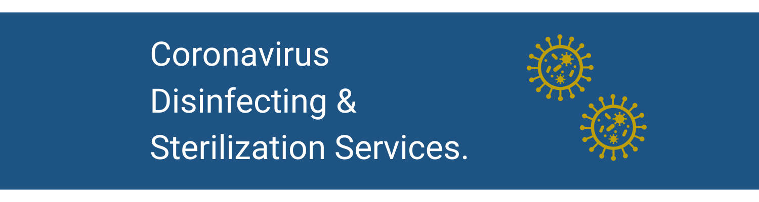 Coronavirus Disinfecting & Sterilization Services.